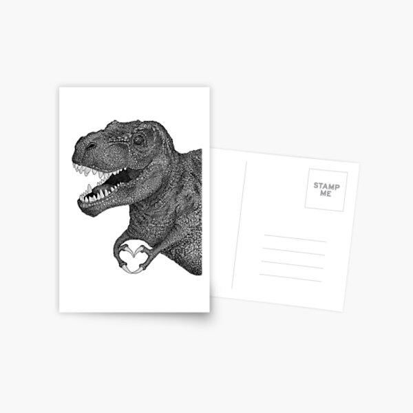 Dino Love Postcard