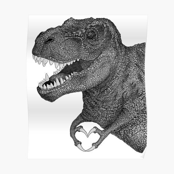 Dino Love Poster