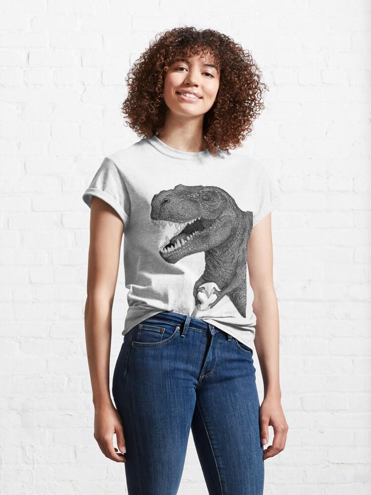 Alternate view of Dino Love Classic T-Shirt
