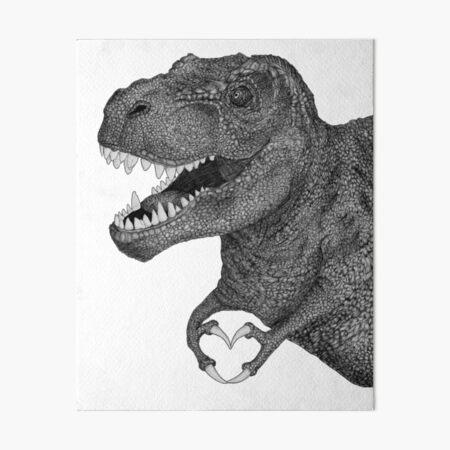 Dino Love Art Board Print