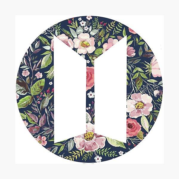logo floral bts Impression photo