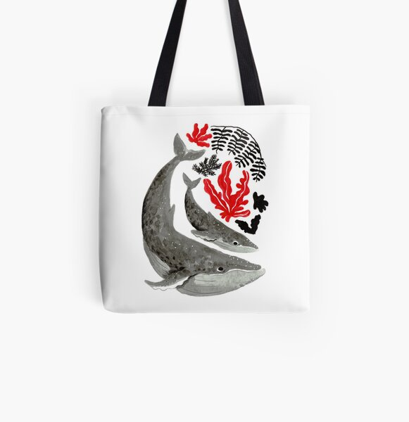 Big Whale Little Whale All Over Print Tote Bag