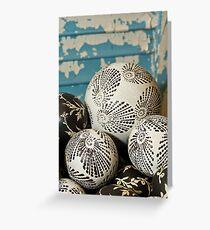 Porcelain Balls Greeting Card