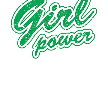 Vintage Girl Power Tshirt, Feminist Gift, Distressed Girl Power Feminism Tee Shirt, Feminist Shirt, Tumblr Clothing Gift by -WaD-