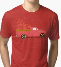 Valentine's Truck Tri-blend T-Shirt