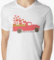Valentine's Truck V-Neck T-Shirt