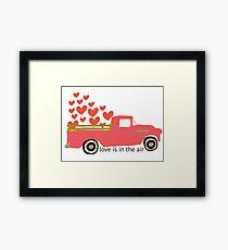 Valentine's Truck Framed Print