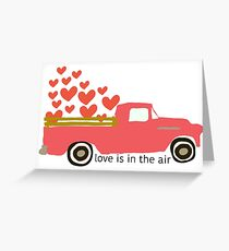 Valentine's Truck Greeting Card