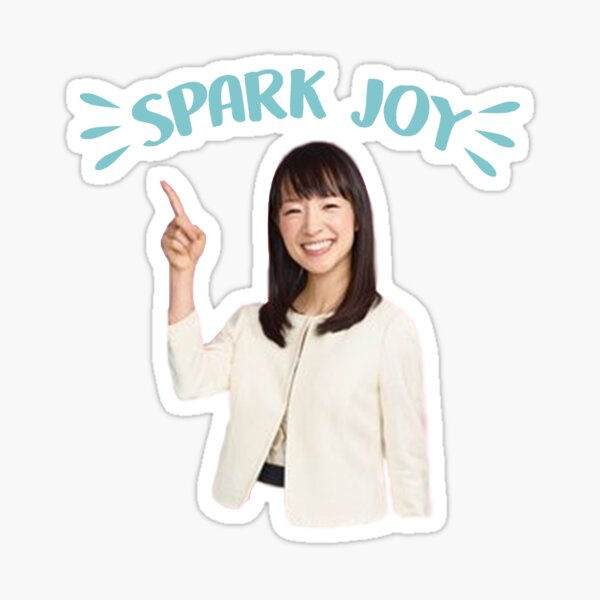 marie kondo spark joy Sticker