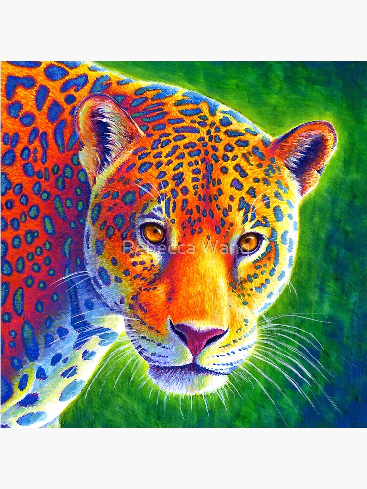 Light in the Rainforest - Colorful Jaguar by lioncrusher