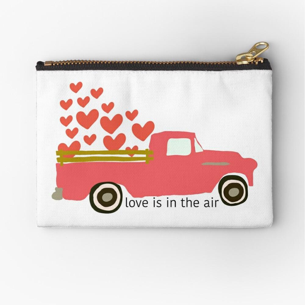 Valentine's Truck Zipper Pouch