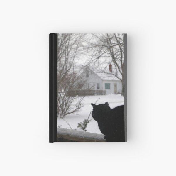 Winter Cat Hardcover Journal