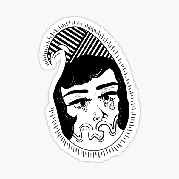 Girl crying Sticker