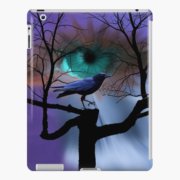 Eye Crow Black Bird Tree Waterfall Fantasy Art Home Decor Matted Picture A405