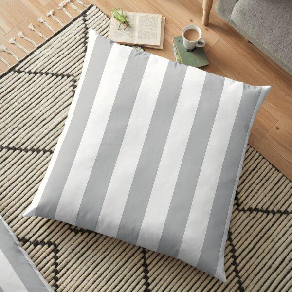 Chunky Grey Stripe Floor Pillow
