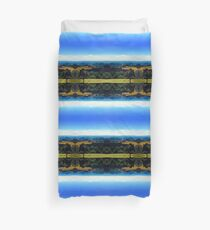 Panoramic view into a summertime scenery Duvet Cover