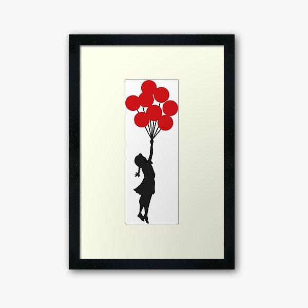 Banksy Girl With Red Balloons At Israeli-Palestine Wall, Palestinial Artwork, Prints, Posters, Bags, Men, Women, Kids Framed Art Print