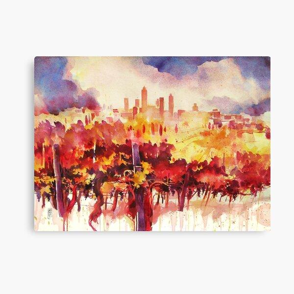 San Gimignano vineyards Canvas Print