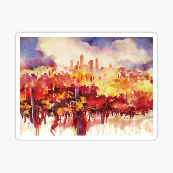 San Gimignano vineyards Sticker
