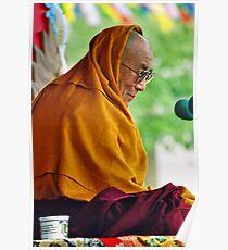 HH Dalai Lama. pin valley, northern india Poster
