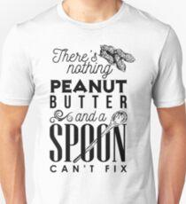 Camiseta ajustada No hay nada que la mantequilla de maní y una cuchara no puedan arreglar