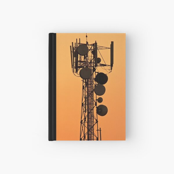 Mobile Tower Silhouette Hardcover Journal
