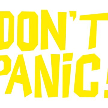 NDVH Don't Panic - Yellow 1 H2G2 by nikhorne