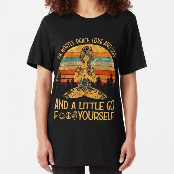 Yoga Tattoo Women - Ich bin meistens Friedensliebe und Licht Slim Fit T-Shirt