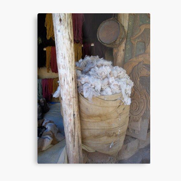 Bag of Wool Metal Print
