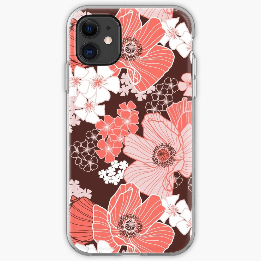 Coral Poppies iPhone Case & Cover