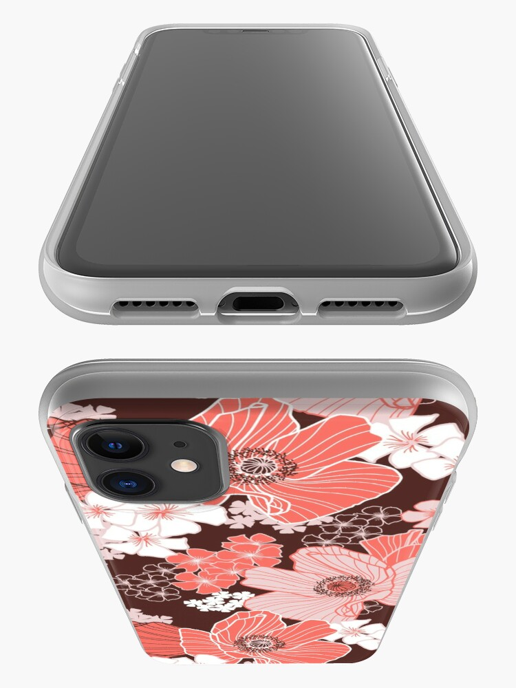 Alternate view of Coral Poppies iPhone Case & Cover