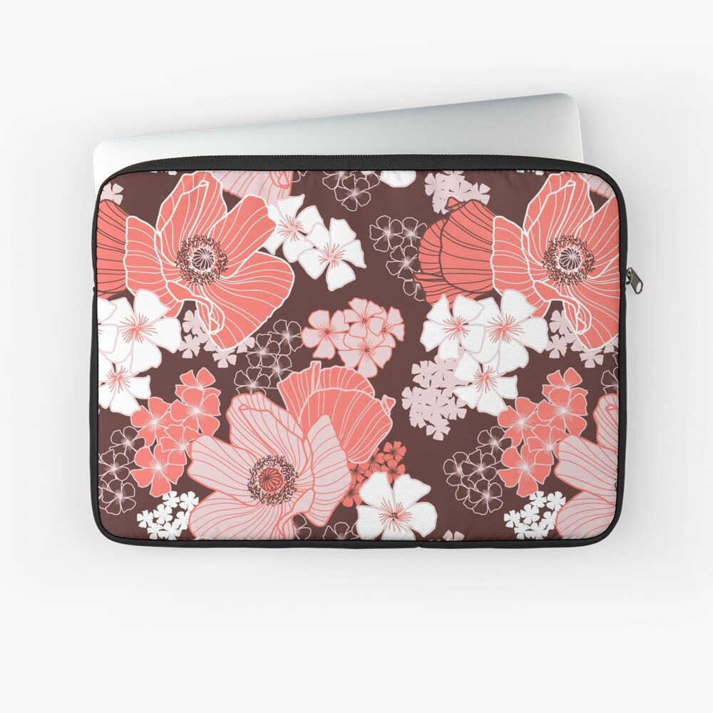Coral Poppies Laptop Sleeve