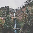 Majestic Multnomah Falls by Eoxe