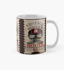 Vintage Power Free Soul Route 66 Mother Road Novelty Gifts. Classic Mug