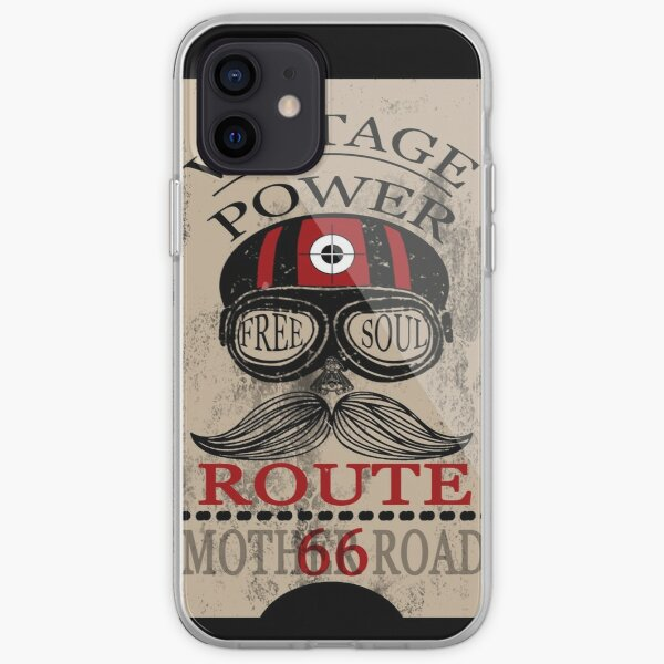 Vintage Power Free Soul Route 66 Mother Road Novelty Gifts. iPhone Soft Case