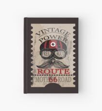 Vintage Power Free Soul Route 66 Mother Road Novelty Gifts. Hardcover Journal