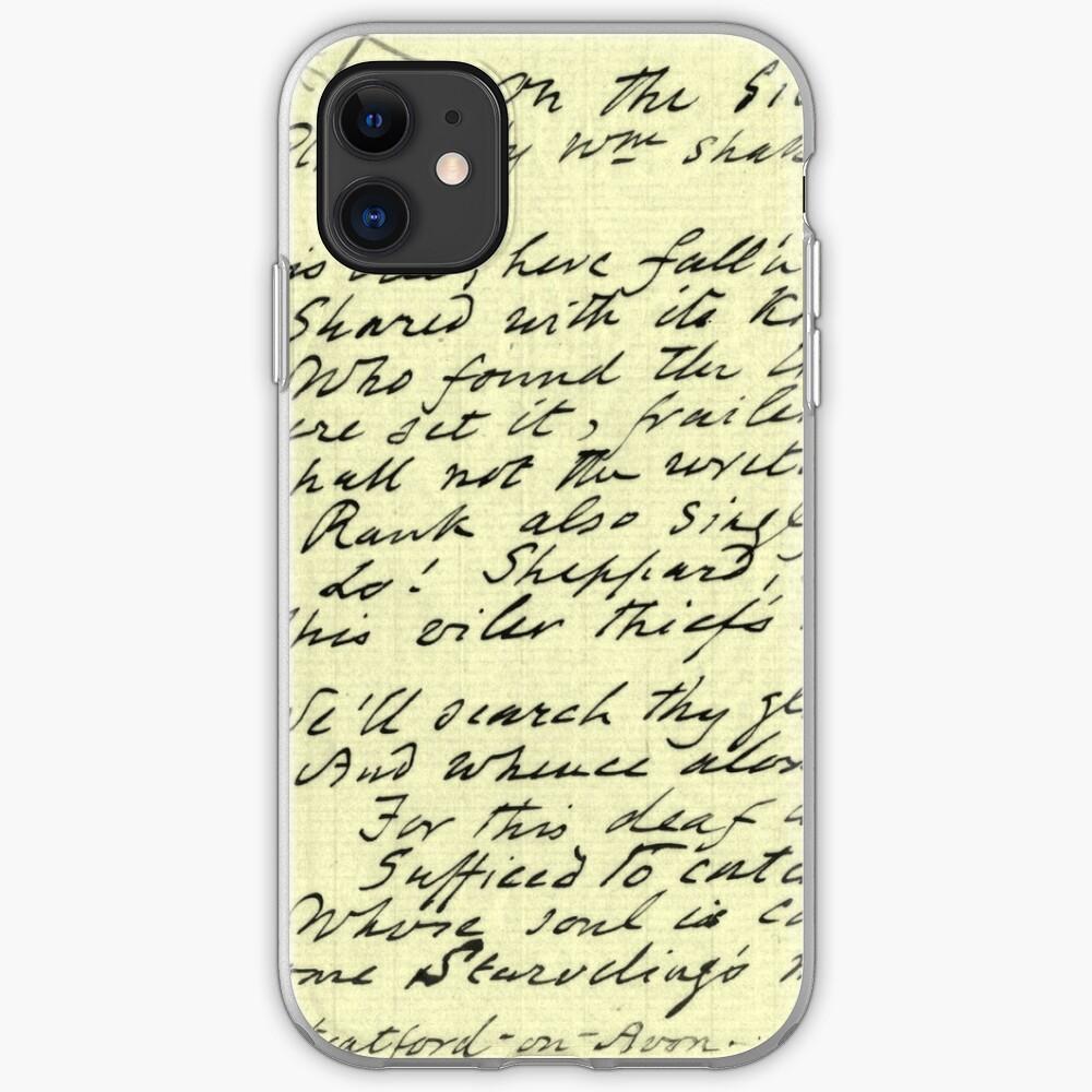 Literary Manuscript iPhone Case & Cover