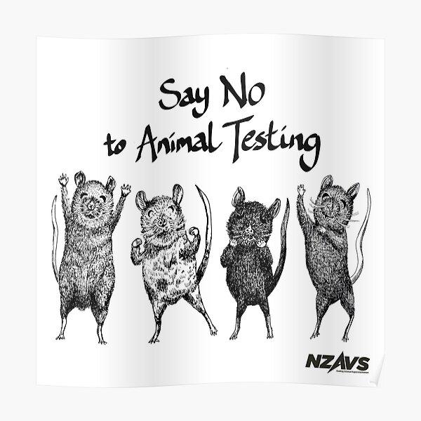 Say No to Animal Testing - Purita Mok  Poster