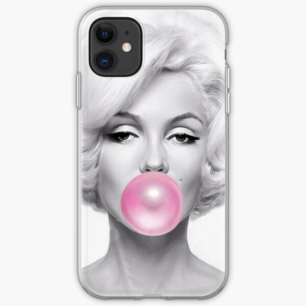 Black and White marilyn monroe Gum iPhone Soft Case