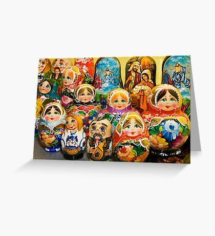Matryoshka Dolls Greeting Card