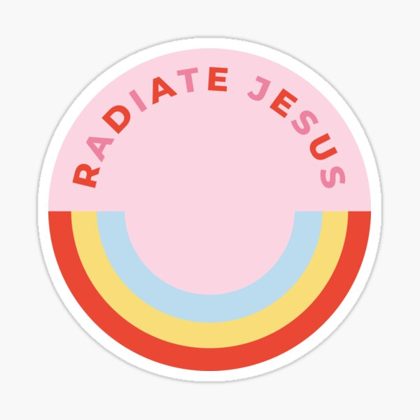Radiate Jesus Sticker