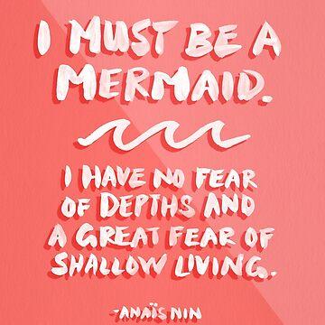 Ich muss eine Meerjungfrau sein - Coral Palette von catcoq