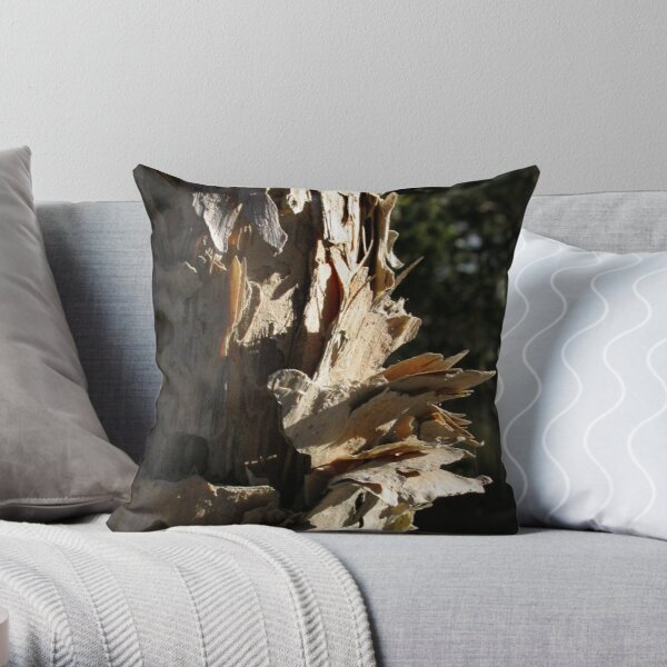 Paperbark; study in texture Throw Pillow