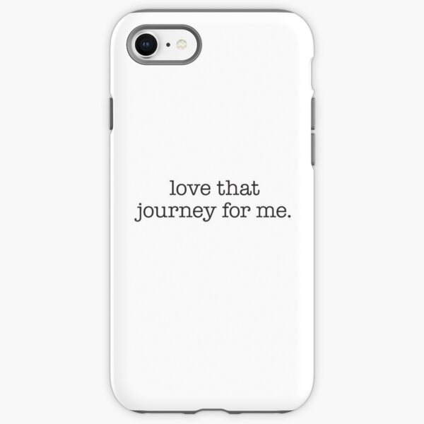 Love that journey for me – black typewriter type iPhone Tough Case