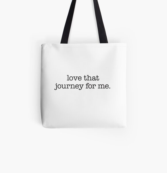 Love that journey for me – black typewriter type All Over Print Tote Bag