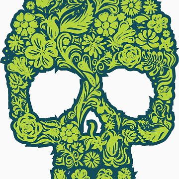 Flowery Skull by KimberlyMarie