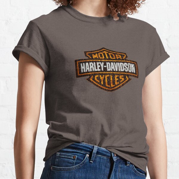 Vintage American motorcycle old and cracked- totally vintage Classic T-Shirt