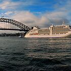 Silver Muse at Sydney harbour by andreisky