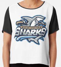 wilmington sharks Attack Chiffon Top