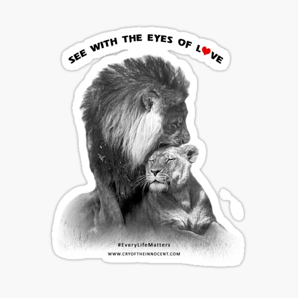 See With The Eyes of Love Sticker